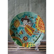 Тарелка рельефная